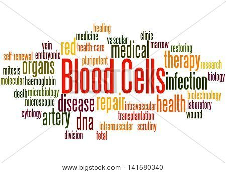 Blood Cells, Word Cloud Concept 3