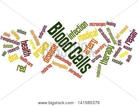 Blood Cells, Word Cloud Concept