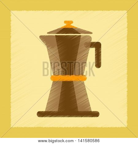 flat shading style icon coffee machine maker, vector