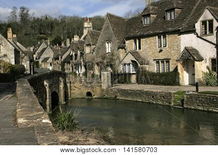 The Village of Castle Combe in Wiltshire the location for the film Doctor Doolittle
