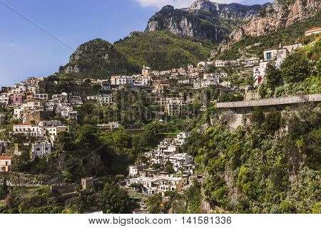 Beautiful View Of Positano, Amalfi Coast