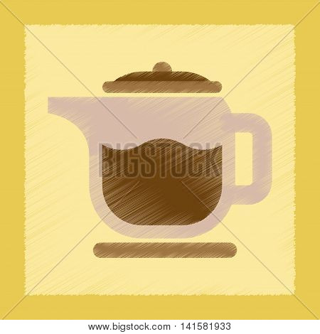 flat shading style icon coffee machine maker