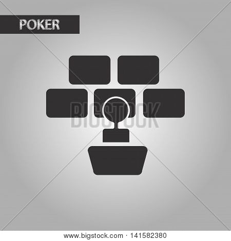 black and white style poker screen guard