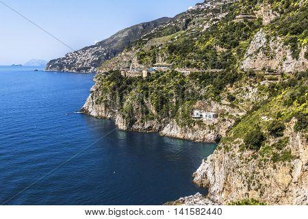 Rocky Coast Of Positano