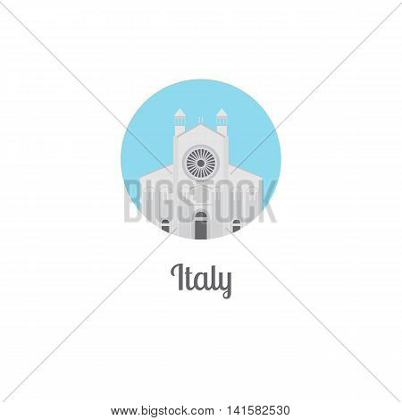 Italy landmark isolated round icon. Vector illustration