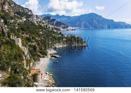 Beautiful Destination Of Positano, Amalfi Coast, Italy