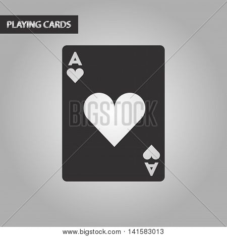 black and white style poker playing card, vector