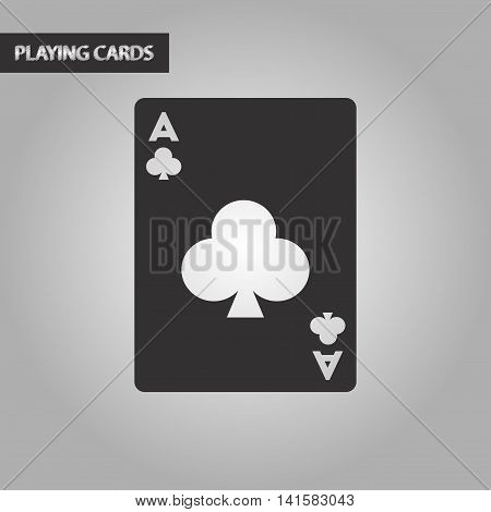 black and white style poker playing card