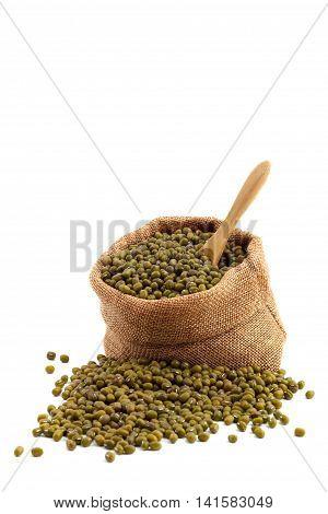 Close Up The Green Mung Beans