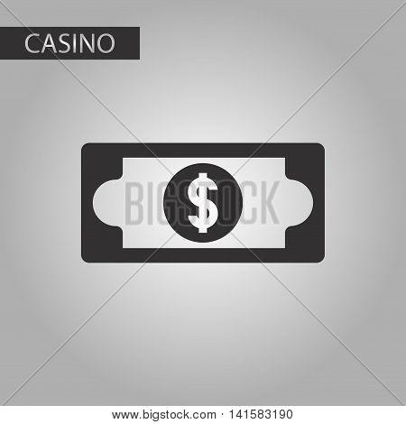 black and white style poker dollar money