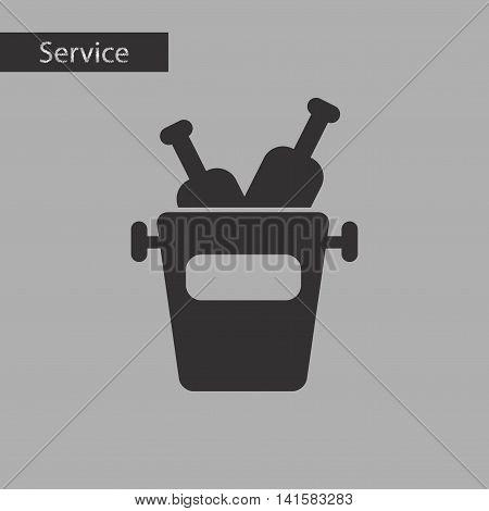black and white style wine bottle bucket