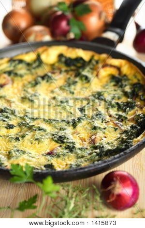 Casserole With Spinach And Onion