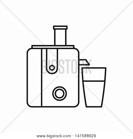 Kitchenware juicer icon in outline style isolated on white background