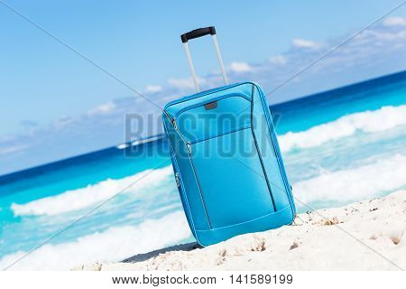 Travel Trolley On Tropical Seaside