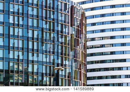 Abstract architecture of a modern office building