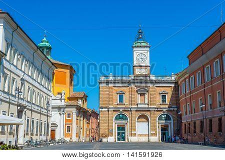 Piazza Del Popolo Square Of Ravenna, Emilia-romagna. Italy.