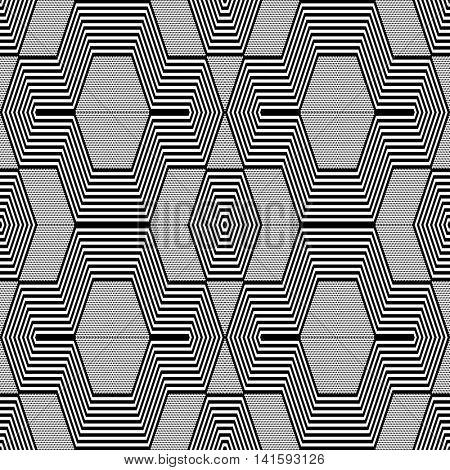 Seamless geometric pattern. Vector art.