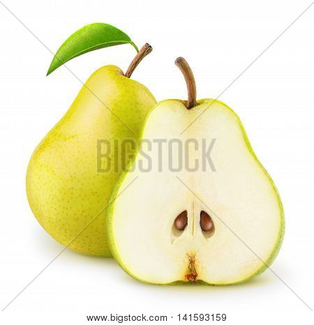 Isolated Yellow Pears