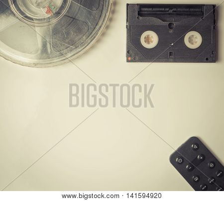 Vintage Movie media items with remote controller