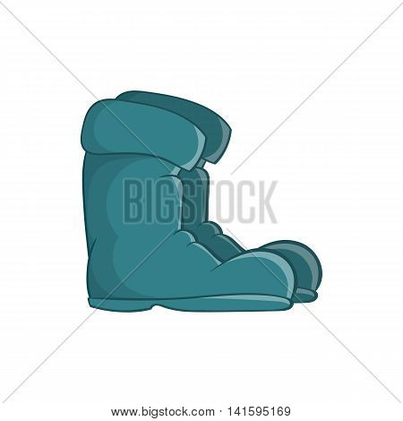 Old boots icon in cartoon style on a white background