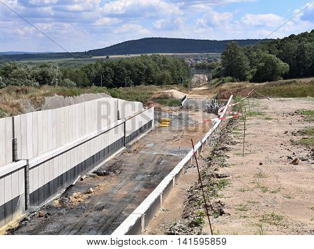 Construction of a new railway in the Czech Republic