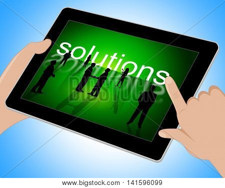Solutions Tablet Represents Web Tablets And Technology