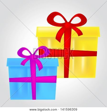 Gift Boxes Represents Christmas Present And Celebrate