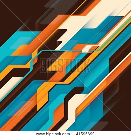 Abstract technology background with colorful elements. Vector illustration.
