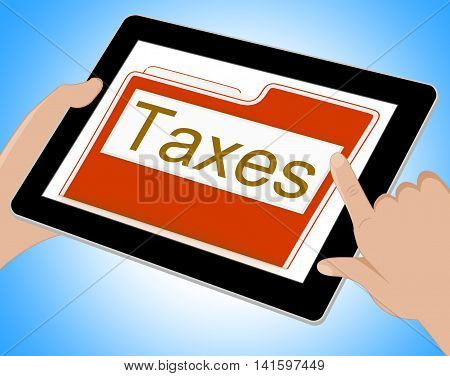 Taxes File Represents Excise Irs And Organization Tablet