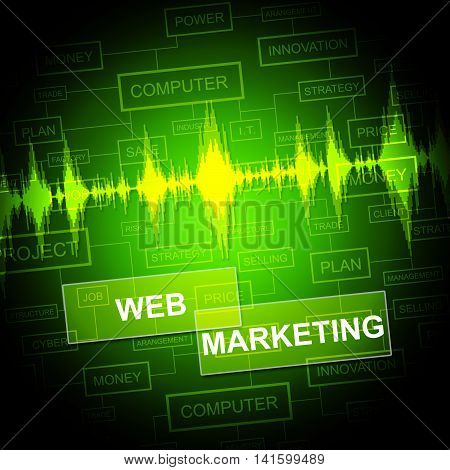 Web Marketing Means Network Sem And E-marketing