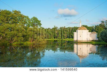Large pond in the park in Tsarskoye Selo