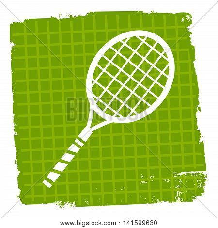 Tennis Icon Indicates Sign Racquet And Symbol