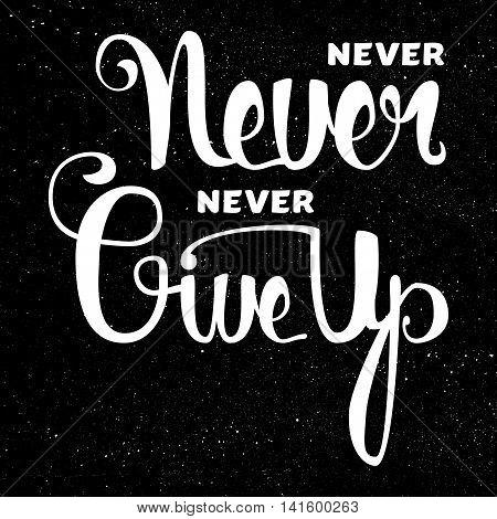 Lettering Motivation Poster