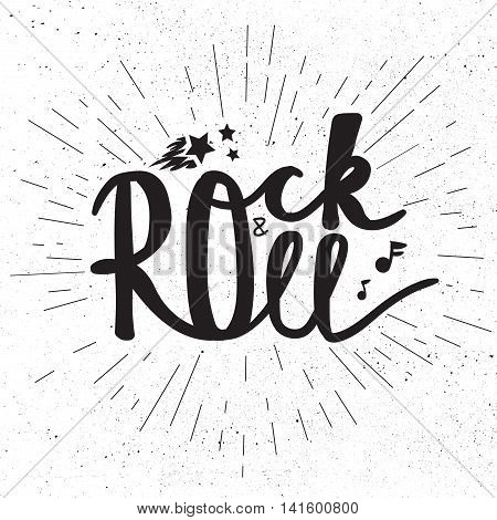 Rock And Roll Lettering