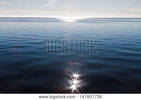 Sunrise On The Rio Dela Plata With Sun Backlighting And Sun Glare