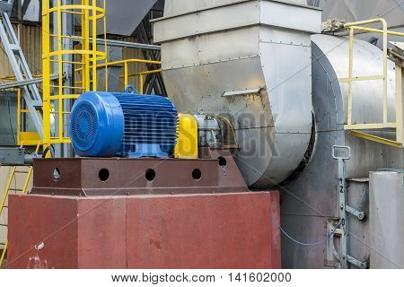 View on big Industrial fumes ventilator - Poland.