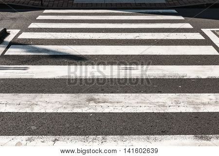 On the street a crosswalk for pedestrian