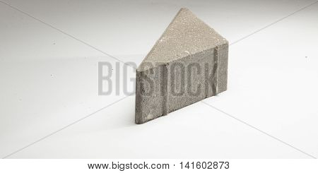 Flagstones In Different Colors. On A White Background