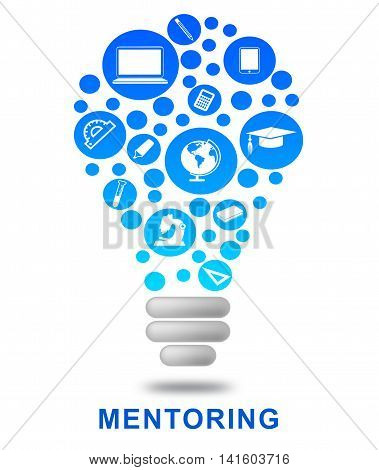 Mentoring Lightbulb Means Power Source And Adviser