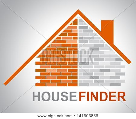House Finder Shows Finders Home And Found
