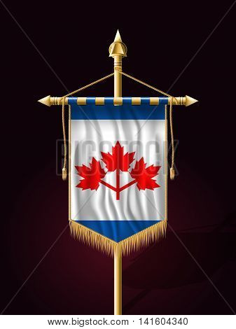 The Canadian Pearson Pennant. Festive Banner Vertical Flag With