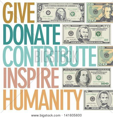 A design to inspire charitable giving for Print or Web