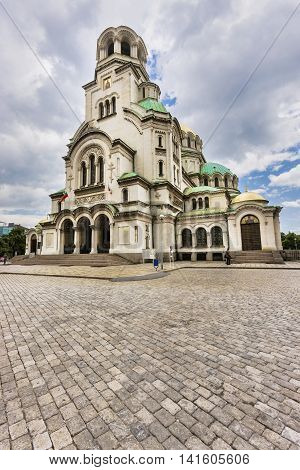 Historical Destination Of Alexander Nevsky Cathedral In Sofia, Bulgaria