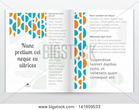 Brochure design template in flat style. Vector illustration