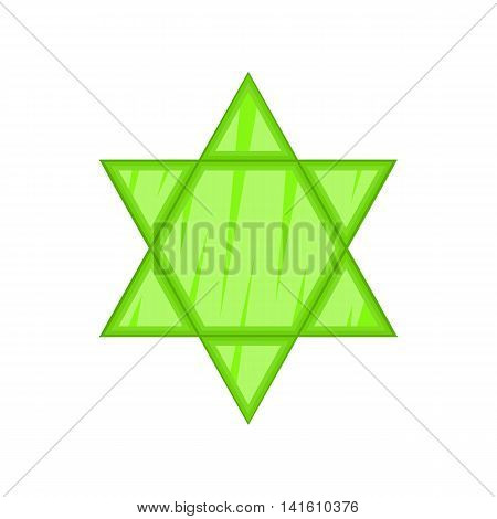 Star of David icon in cartoon style on a white background