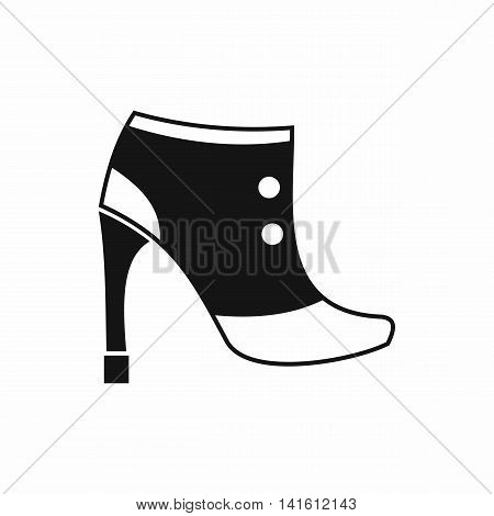 Women boots icon in simple style isolated on white background. Wear symbol