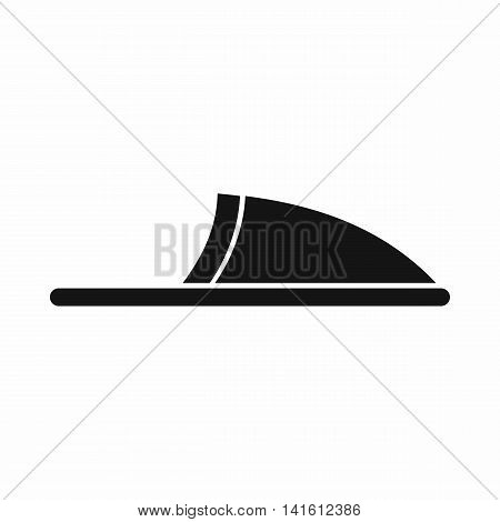 Slippers icon in simple style isolated on white background. Wear symbol
