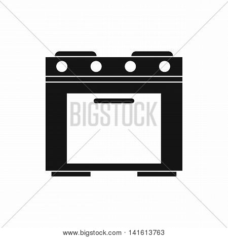 Gas stove icon in simple style isolated on white background. Home appliances symbol