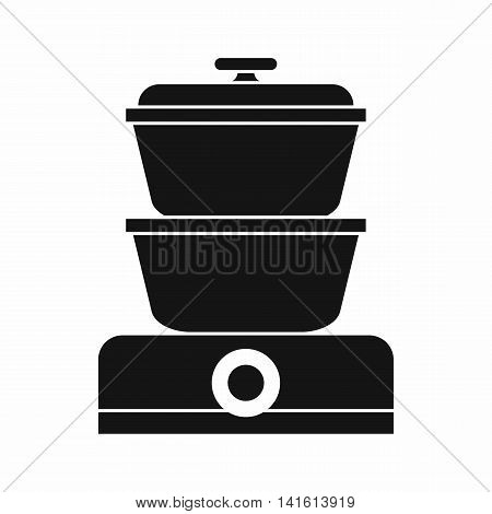 Steamer icon in simple style isolated on white background. Home appliances symbol