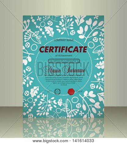 Certificate Cover Template.